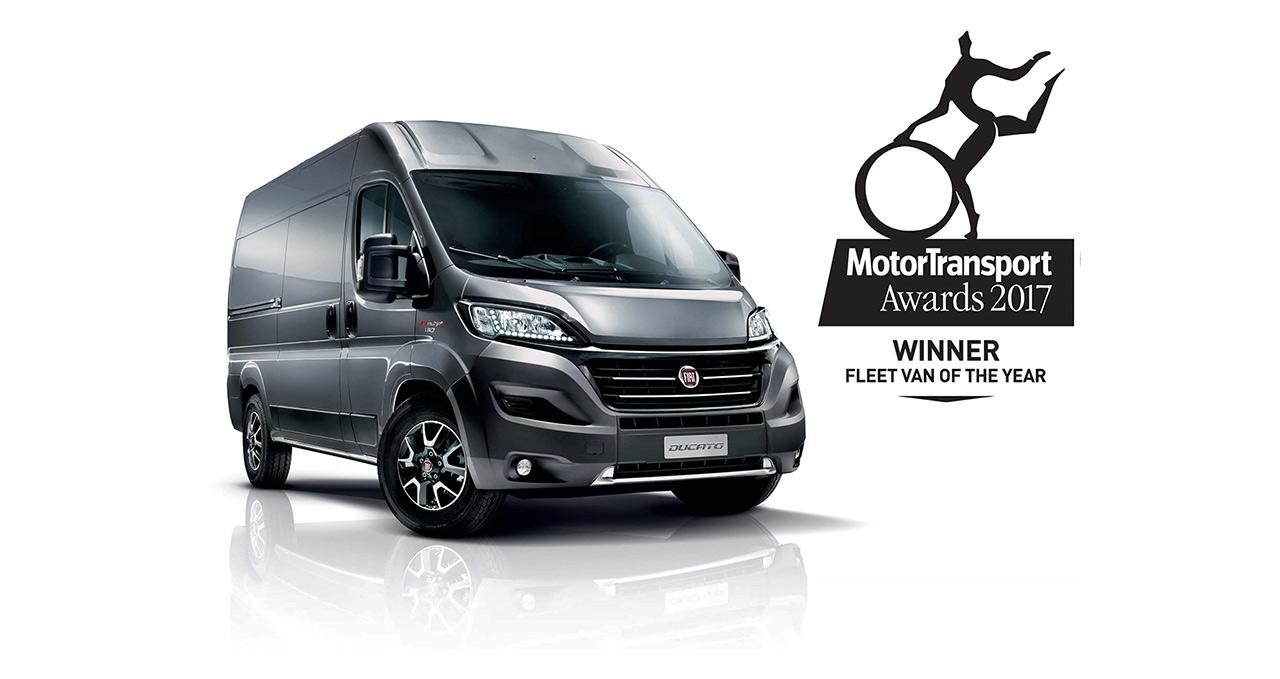 """Ducato je u Velikoj Britaniji dobio nagradu """"Kombi 2017. godine za vozne parkove"""""""