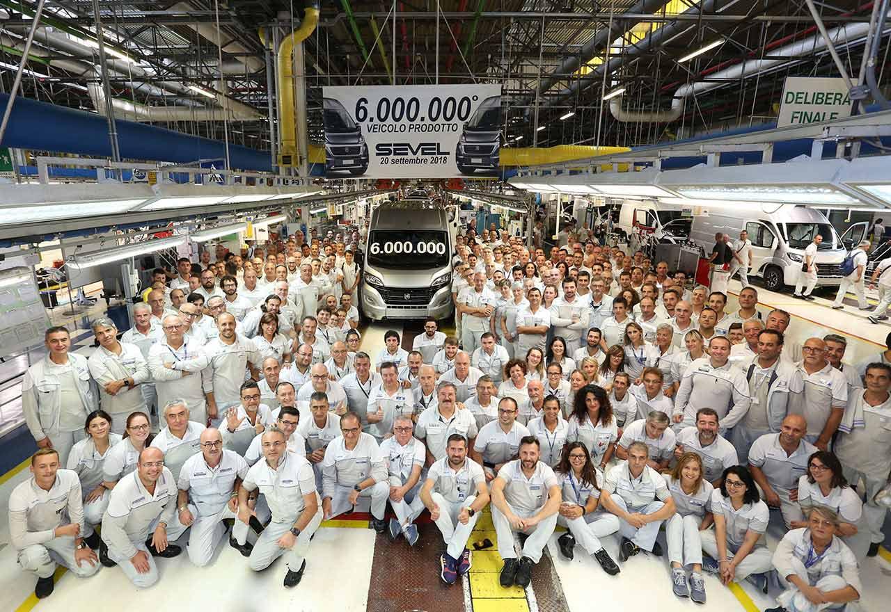 Šest milijuna vozila u Sevelu, tvornici Ducato